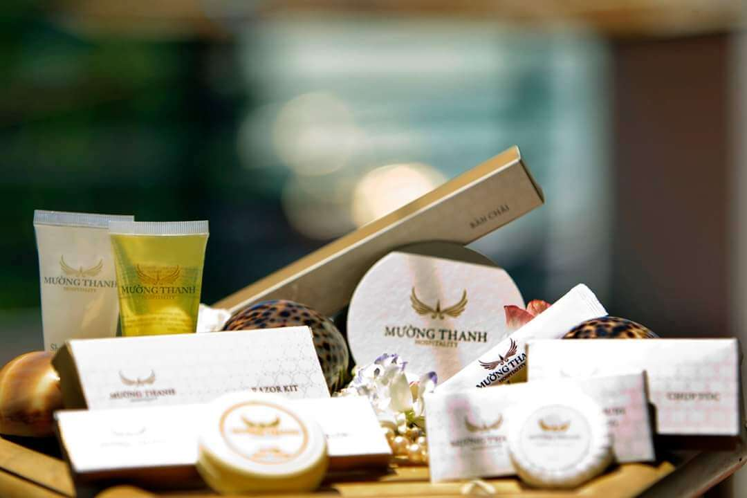 amenities khách sạn bao bì vỏ hộp giấy invory