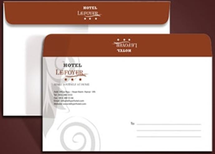 phong bì dùng trong khách sạn
